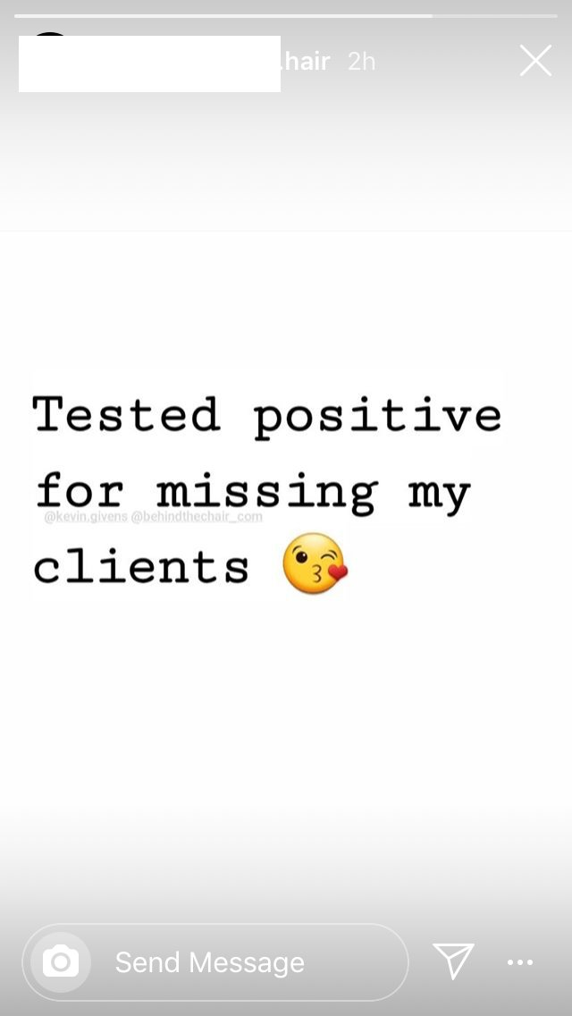 This was a poor and insensitive way to express that you miss your clients. I hope that Kevin Givens of @behindthechair_ rethinks this.pic.twitter.com/qUF0aHOFV8