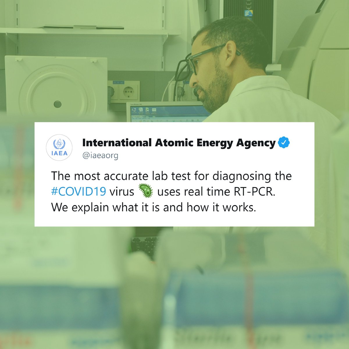 The most widely used and accurate diagnostic lab test for the #COVID19 coronavirus is a nuclear-derived technique. What is it? How does it work? Check it out: bit.ly/2JmliF4
