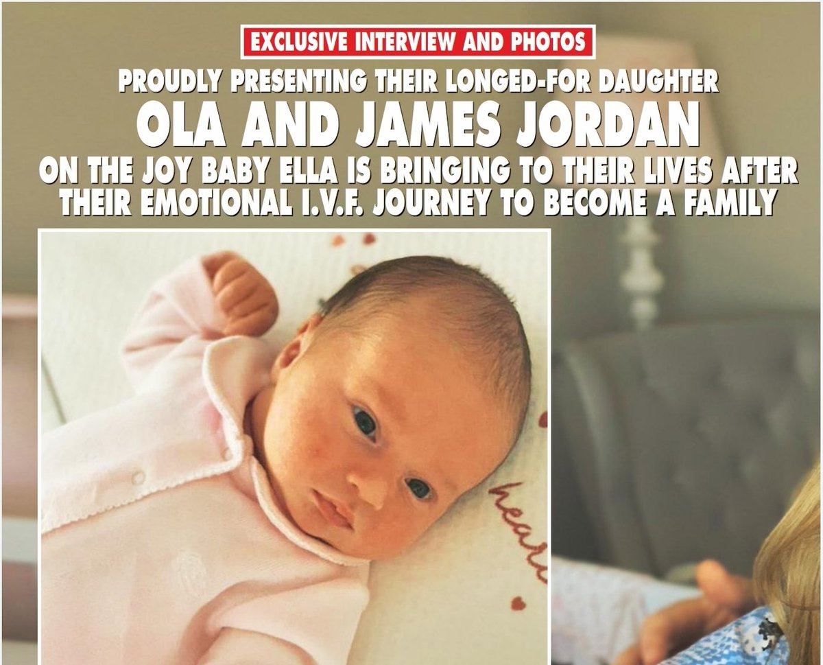 Welcome to the world gorgeous baby Ella Jordan! Grab your copy of @hellomag today for all the @The_JamesJordan @The_OlaJordan family news and exclusive photos #BeautifulBaby pic.twitter.com/16x4LNsA1g