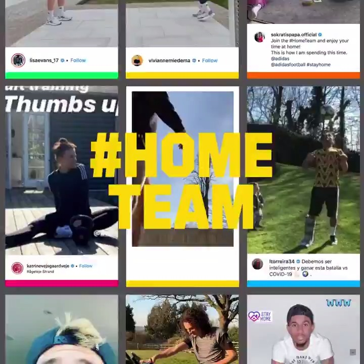 It's time to create. We're on the @adidas #hometeam.  Stay home. Stay safe.   🤝 @adidasuk