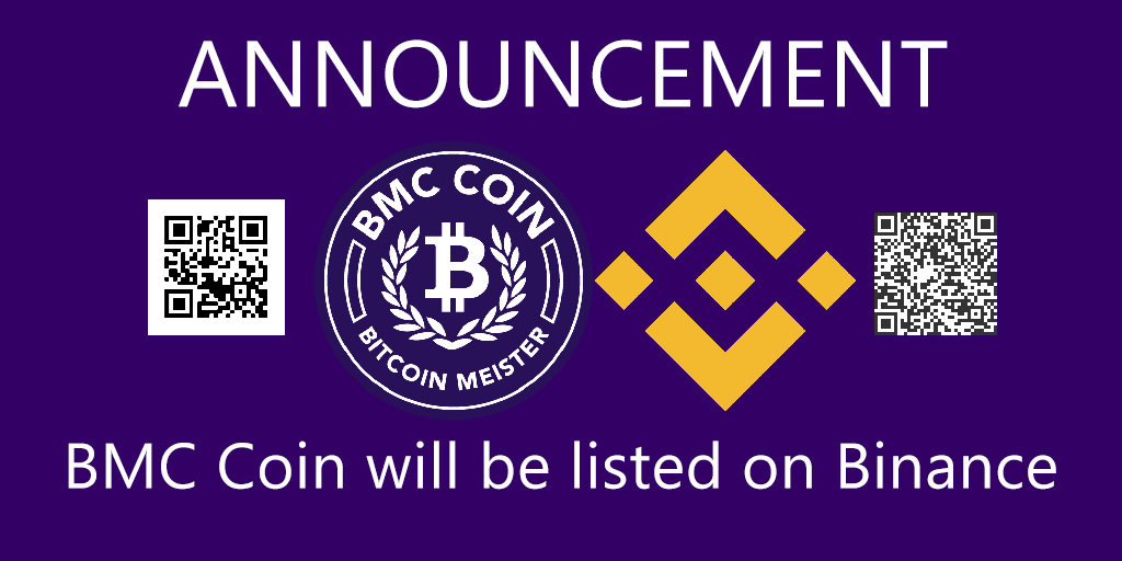 Announcement #Binance listing $BMC Coin.pic.twitter.com/k6AshpJE4i
