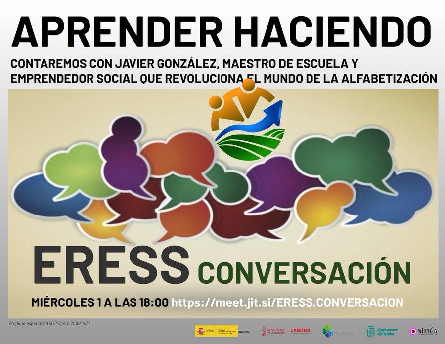 Recuerda que hoy miércoles 1 de abril a las 18:00 en https://t.co/ckU3lLwOLe conversamos de Aprender Haciendo. Contaremos con Javier Gonzalez Quintero como conversador y será un lujo contar contigo también. #YoMeQuedoEnCasa #COVID19 #eress https://t.co/uJcNcubvOq