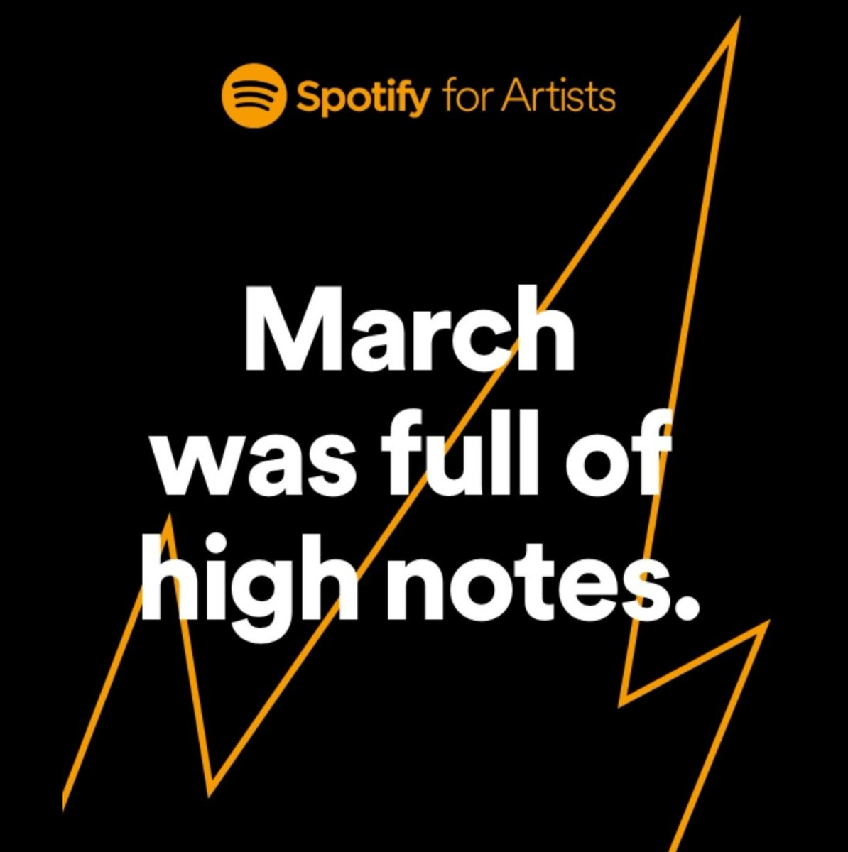251k+ listeners tuned in to my #Spotify in March. Grateful  pic.twitter.com/BcI59pkL8W