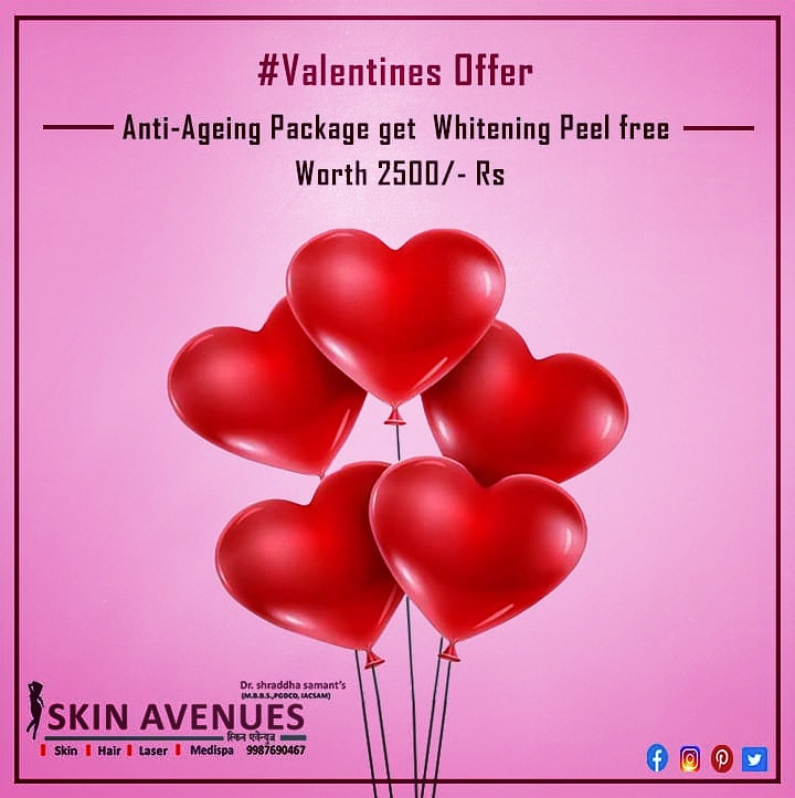 Skin  Hair    Laser Clinic Pune #valentines season is near - And we want you to glow on the special day.  #valentines_day http://www.skinavenues.com   Skin Avenue Clinic Kharadi Pune  9987690467  http://www.skinavenues.compic.twitter.com/9DwOogUVvm