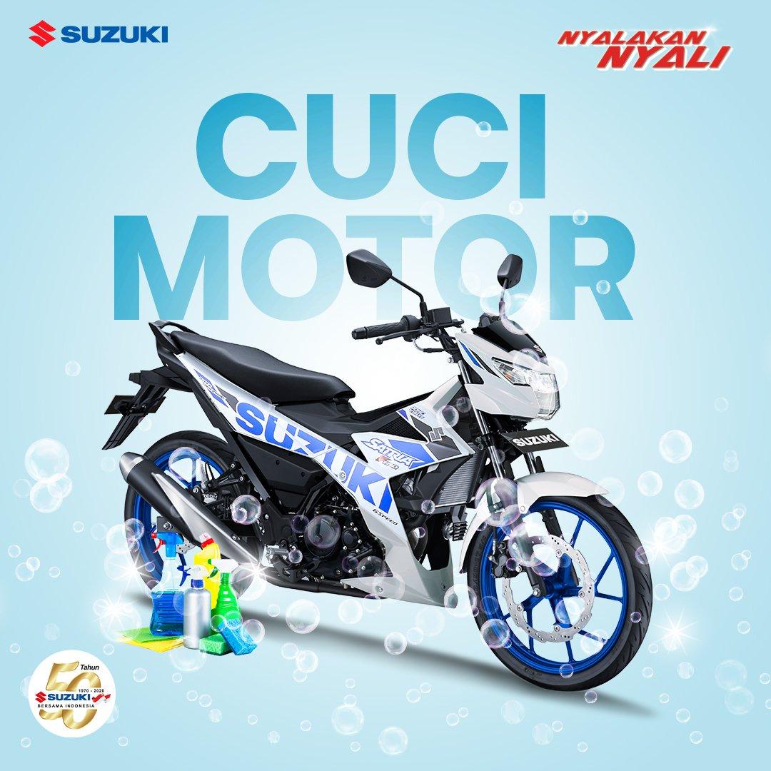 Cakep banget nih kalau BradSis sempetin cuci motor hari ini. Walau ruang gerak masih terbatas karena COVID-19, kayanya gak ada alasan deh buat bikin motor kinclong dan bebas dari virus. #Suzuki #SuzukiIndonesiaMotor #NyalakanNyali #DiRumahAja