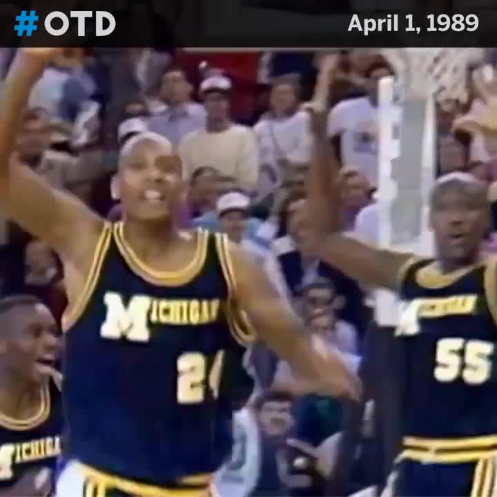 3️⃣1️⃣ years ago, @SeanHigginsLive hit the shot to send @umichbball to the NCAA final.