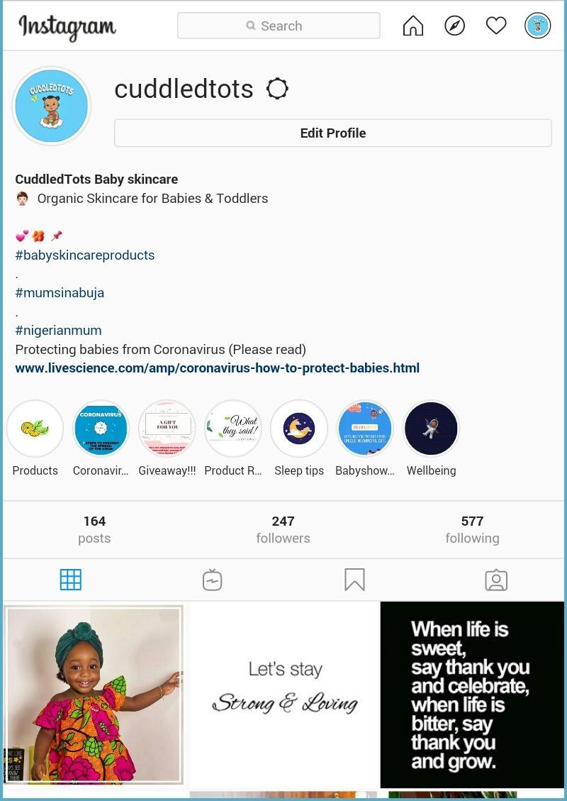 Find us on #instagram https://www.instagram.com/cuddledtots/ #MorningRuns #April2020 #AprilFoolsDay #AprilWithTacha #giditraffic #abujabusiness #Moms #babypic.twitter.com/nhJDWFd9sC