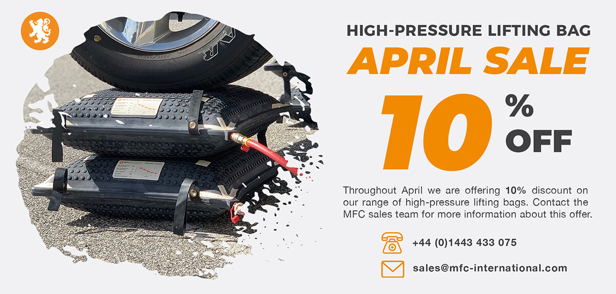 Throughout April we are offering 10% discount on our range of high-pressure lifting bags. Contact the MFC sales team on +44 (0)1443 433 075 or sales@mfc-international.com for more information about this offer. https://www.mfc-international.com/home/news/april-sale-mfc-international-high-pressure-lifting-bags… #liftingbags #sale #vehiclerecovery #rescuepic.twitter.com/UaS6FMuF7H
