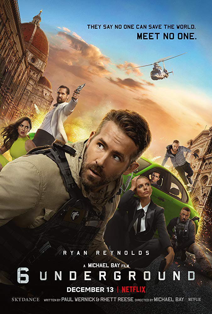 44) 6 UNDERGROUND -ACTION,THRILLER  Tq @nurshuhaili suggest movie ni. Such an awesome movie from Michael Bay. Non-stop stunt & fight dari awal smpai habis🤟🏻. Cerita psl a 'ghost' team try to change the world from the dictator into the peace.  Rating:9/10  #Netflix #RekomenFilem