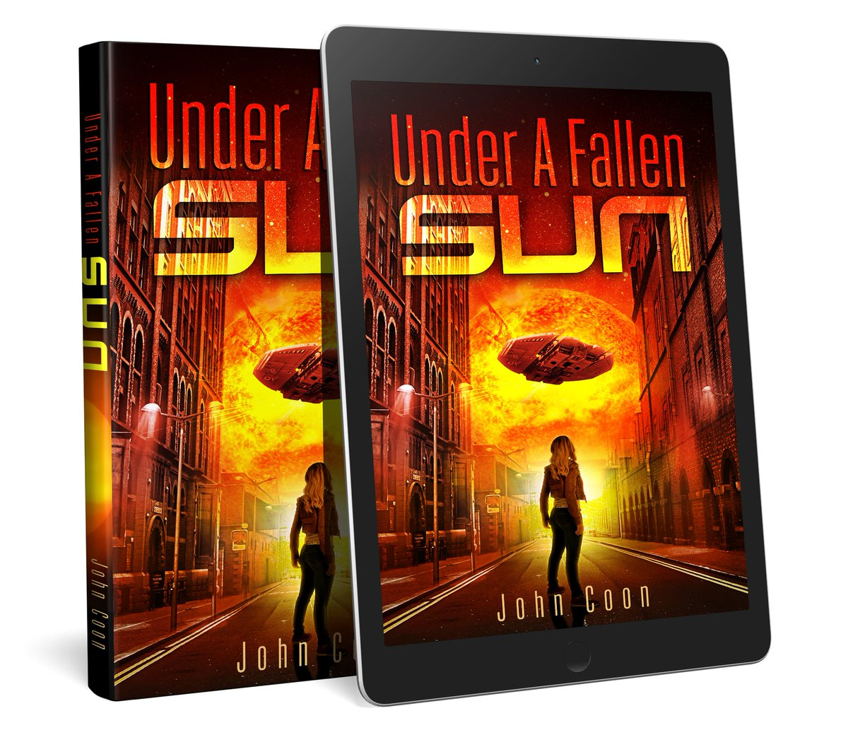 Travis harbors frightening secrets and is under siege from an alien menace. Can Paige and her friends survive and find a way to thwart their plans?  Get your copy now: https://www.amazon.com/dp/B07TRNYGST  By @johncoonsports #FallenSun #ScienceFiction #SciFi #RRBC #MustReadpic.twitter.com/o5J8KVKH3k