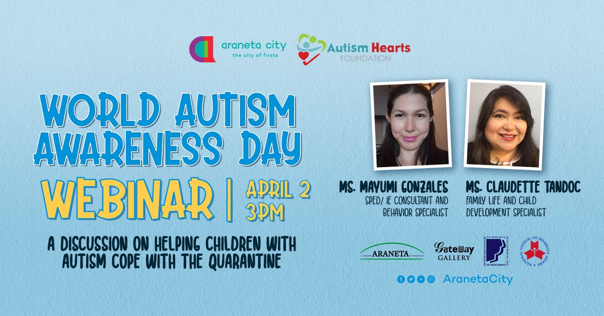 Araneta City On Twitter Our Guest Online Speaker Is Ms Mayumi Gonzales Sped Ie Consultant And Behavior Specialist Moderated By Ms Claudette Tandoc Family Life And Child Development Specialist Togetherweheal Aranetacity