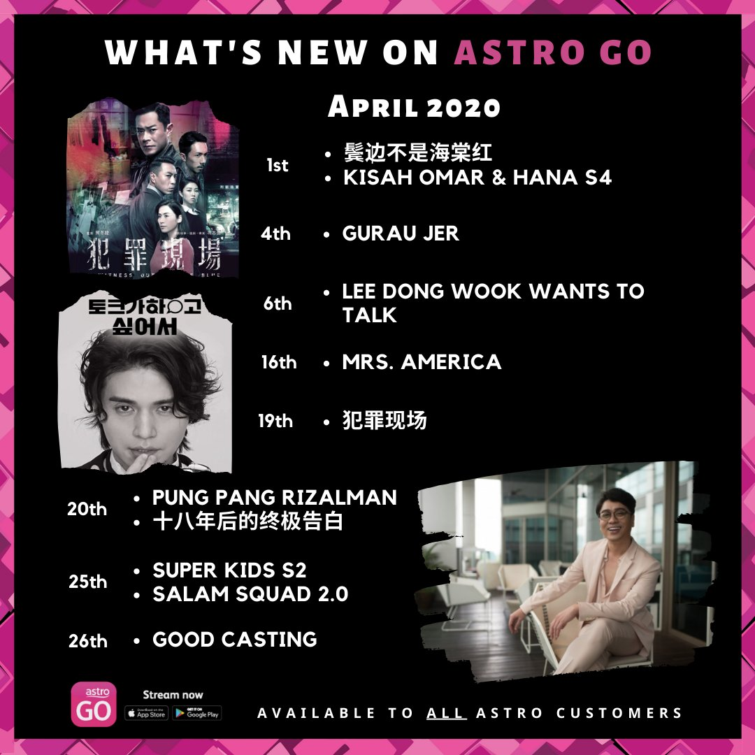 What's new on #AstroGO April 2020 #instacool #instavideo #instaworld #instalink #instatoday #AstroGO #staysafestayhome #stayentertained #keepcalm #hapusCOVID19 @501awani @astromalaysia @astrogempak @rizalman71