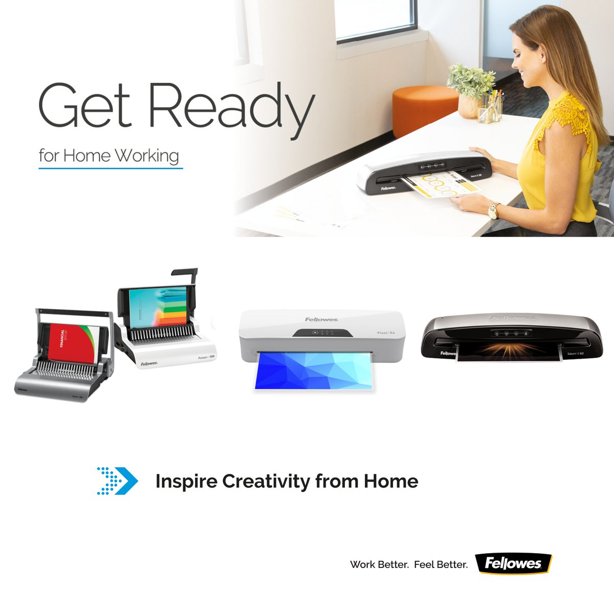 Having the right resources can inspire cost-effective creativity & productivity, from binding project documents to creating professional-looking work planners, children's art and recipe cards with your own laminator.  See our full range here ➡️https://bit.ly/2WKaGYr