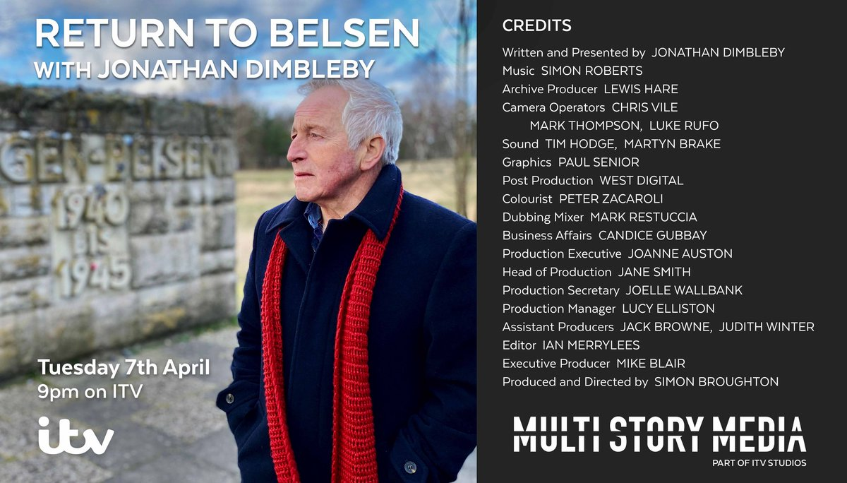 Tuesday 7th April at 9pm our students from @CORERockwood and @COREusCHOIR feature in @dimbleby_jd and @itvstudios Return to Belsen #CORErespect