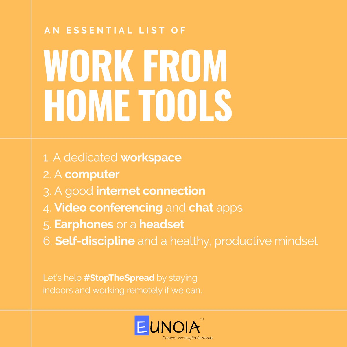 If working from home gets tough for you! You can try:  #startups #WFH #WorkFromHome #workingfromhome #remotework #StayHomeStayStrong #workingfromhometips #YouthForCOVID19 #IGotFiveOnIt #IndiaFightsCOVID19 #IndiaFightsCorona #StartupsVsCovid19 #BusinessAsUsual