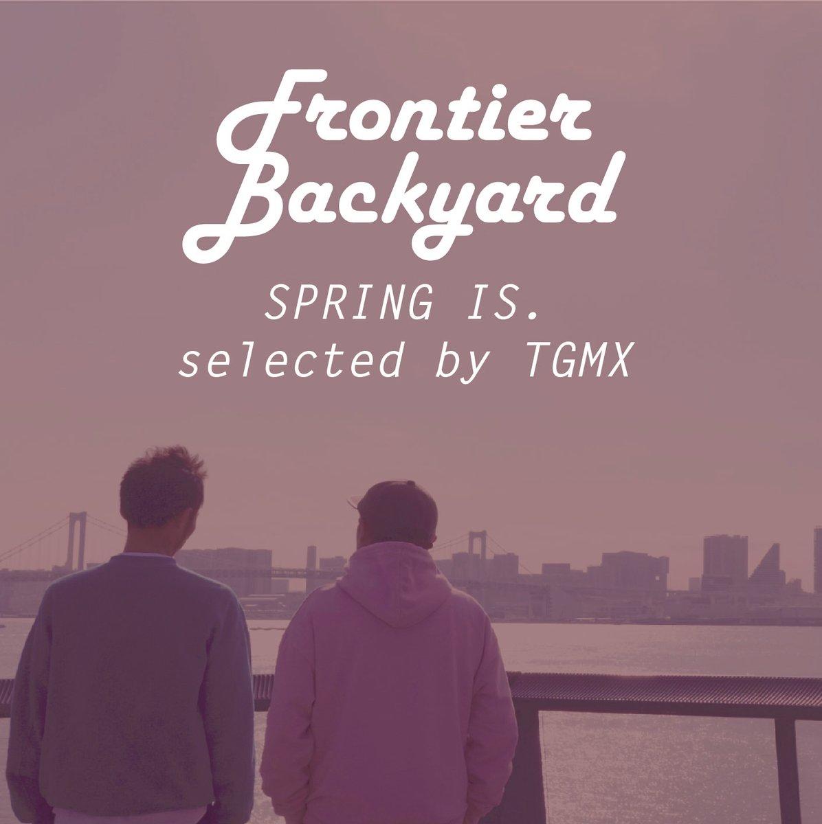 【 FRONTIER BACKYARD 】「small talk」の配信開始に合わせて、TGMXの創作意欲をかきたてられた楽曲達を集めたプレイリストが、  @SpotifyJP  にて公開となりました。新曲と一緒に聞いてみてください。#fby #frontierbackyard #Spotify #SPOTIFYPLAYLIST
