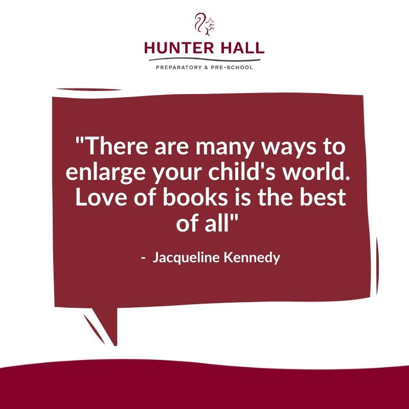 """#WednesdayWisdom   """"There are many ways to enlarge your child's world.  Love of books is the best of all"""" Jacqueline Kennedy  #HunterHall #School #Penrith #Cumbria #wisewords pic.twitter.com/r3CYqHPl6W"""