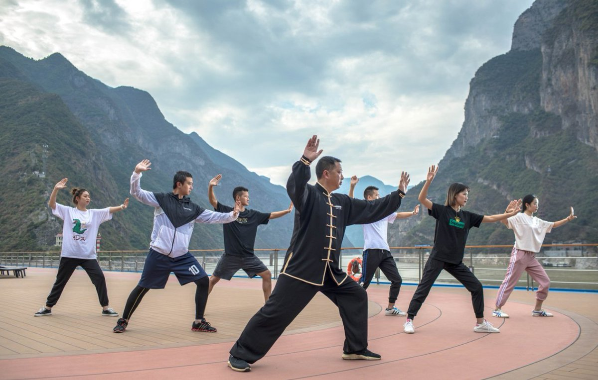 Chose TaiChi, Calligraphy, Mahjong or Flying Kites while cruising on the Yangtze River - the perfect choice for a family friendly holiday.   #china #travel #cruise #Yangtze #river