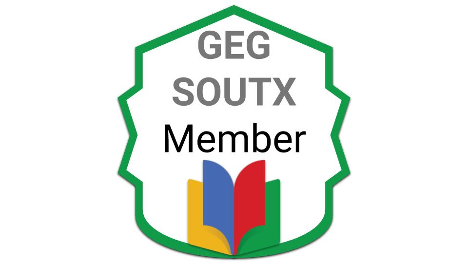 Thank you @matthewaynelson for earning the Membership badge.  If you want to join our @GEGProgram of South Texas, visit http://GEG.SOUTX.us/Join  After acceptance, introduce yourself.pic.twitter.com/JIrzZzqxt2