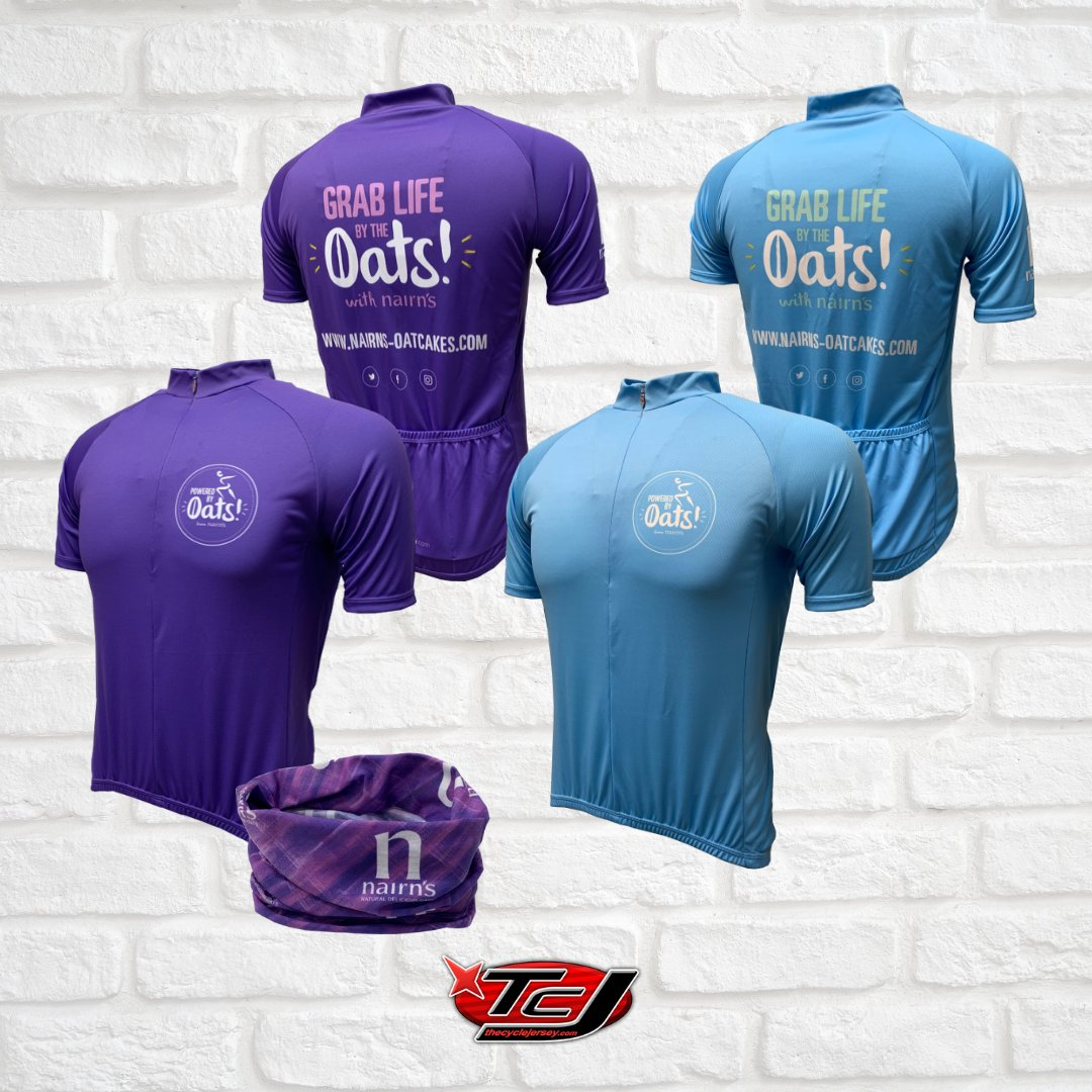 Grab life by the oats with Nairn's!   Make sure you are seen out on the roads with one of these awesome jerseys! Those three back pockets are just asking to be stuffed full of snacks! #thecyclejersey #nairnsoatcakes #designyourown #nairnspic.twitter.com/RCsvgiw5ZX