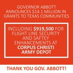 Image for the Tweet beginning: Thank you @GovAbbott! #corpuschristi