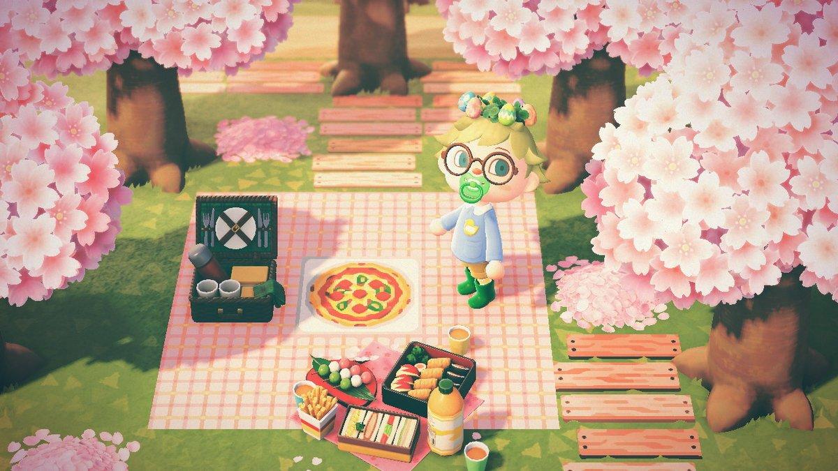 シート あつ 森 ピクニック