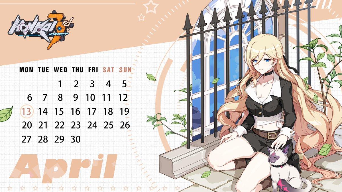 Honkai Impact 3rd On Twitter Honkai Calendar April