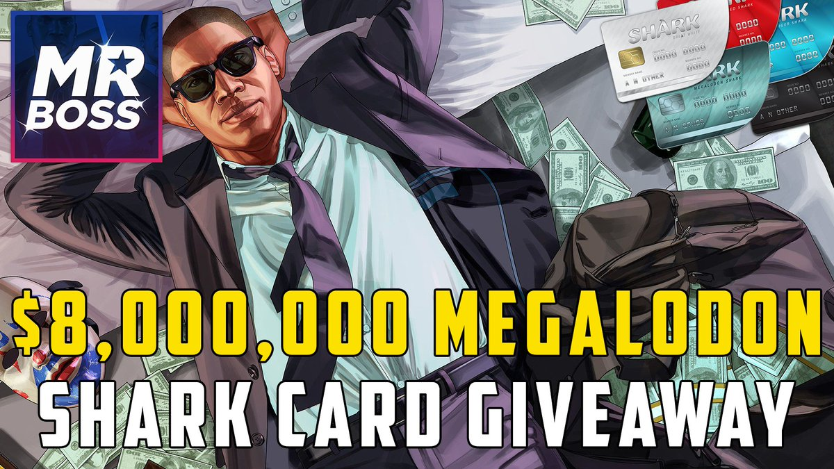 $8,000,000 Megalodon Shark Card Giveaway 💰  1. RT This Tweet! 2. Follow Me @MrBossFTW!  I'll be announcing the winner this weekend! Good Luck! 😄 https://t.co/jN9YSfBoDZ