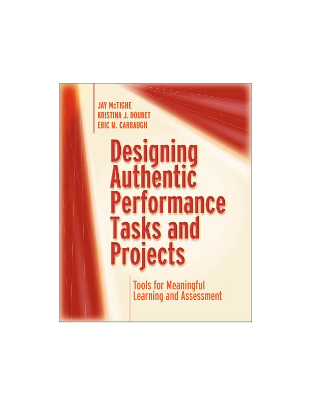 Here is a link to view a 1-hour webinar on my newest book, Designing Authentic Performance Tasks and Projects: Tools for Meaningful Learning and Assessment. Register for free here: https://t.co/MRLZ4QZpcC https://t.co/edV4DvJT6m