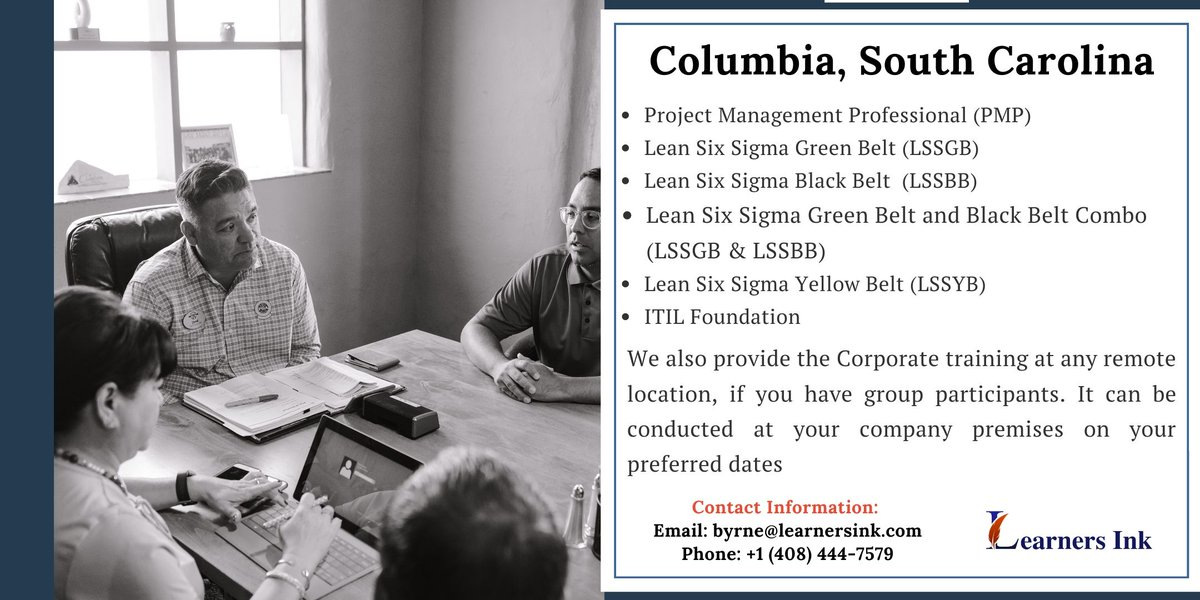 Join #Learnersink  Our Upcoming Lean Six Sigma Black Belt #Training  #Course  #Columbia , South Carolina  #Lean  #Quality  #Define  #Measure  #Analyze  #Improve  #Control  #LeanSixSigmaBlackBelt  #LeanSixSigma  #BlackBelt  #Classroom  #Workshop  #BootCamp  #Professional  #LSSBB  #SouthCarolina