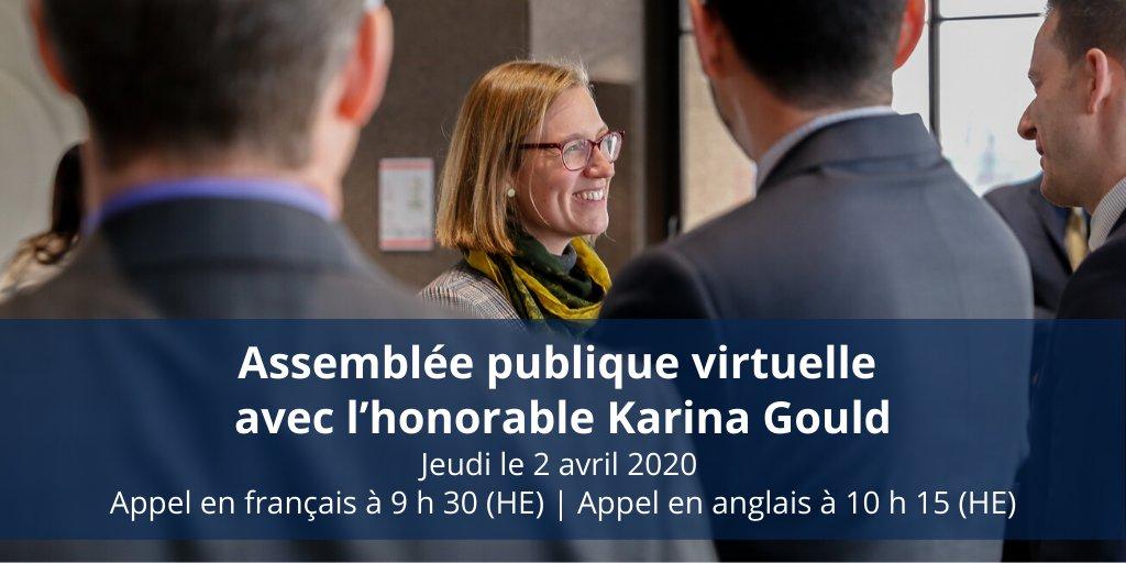 Joignez-vous à nous demain pour une discussion avec ministre @karinagould sur les grands enjeux pour la coopération int'le de la crise du COVID-19. Français en 1er à 9h30.  Le lien pour participer est dessous. https://t.co/trH7v8UVIS