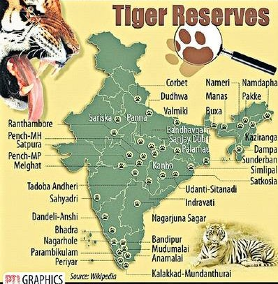 """Ankit Kumar, IFS on Twitter: """"1st April, 1973 ~ 'PROJECT TIGER' was launched in 🇮🇳 to ensure revival of Tiger population. This might interest you that we have 50 TIGER RESERVES spanning"""