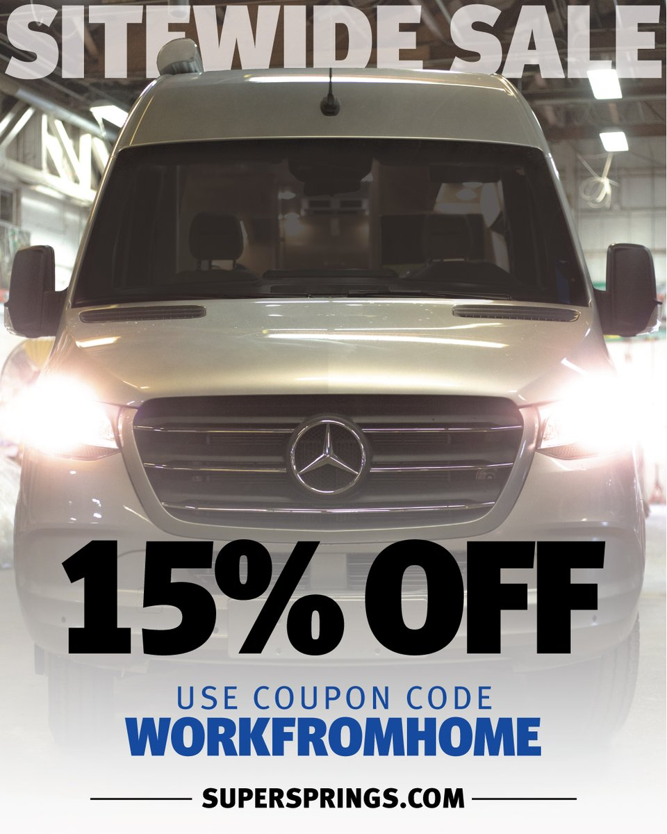 Level your ride. Here's a 15% coupon for you.  #journeybetter #adventurealways #supersprings #sumosprings #camping #camplife #towables #trailer #trailerlife #campervan #vanlifepic.twitter.com/6IEgLVRZIi
