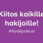 Image for the Tweet beginning: Kevään 2020 yhteishaku on päättynyt!