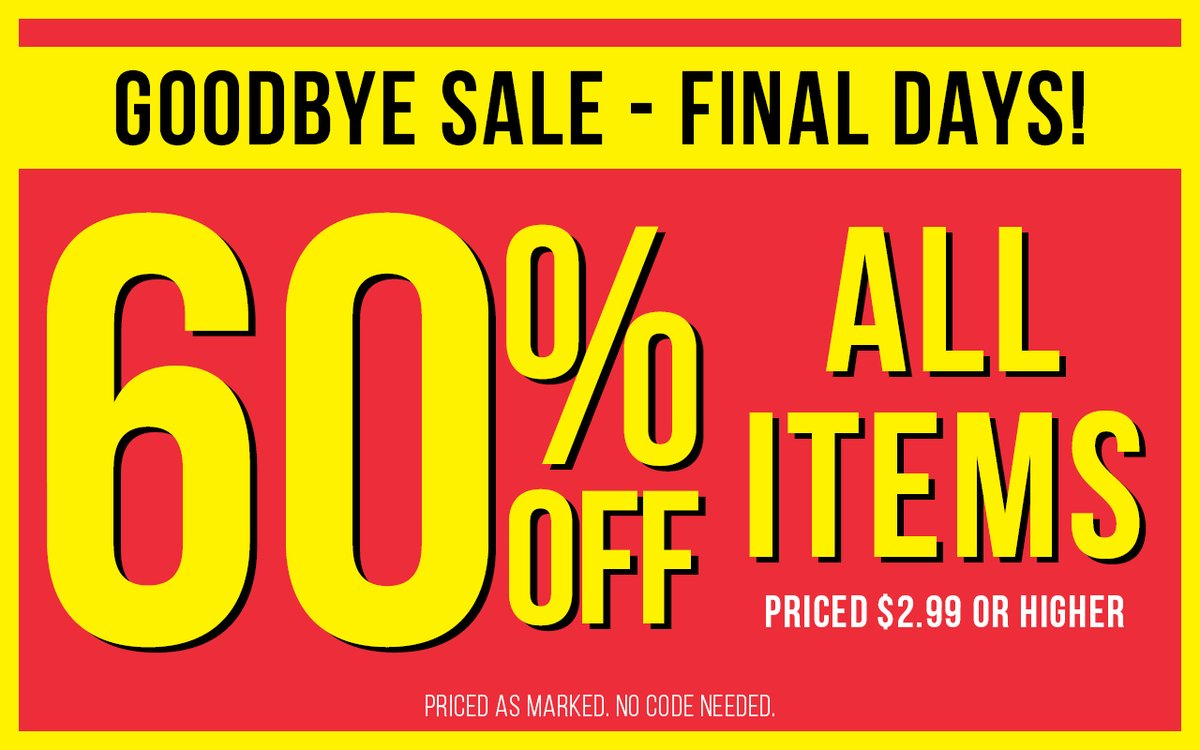 All items, now 60% off! https://t.co/M7YoMN2QUR https://t.co/MH9v5sUHT7