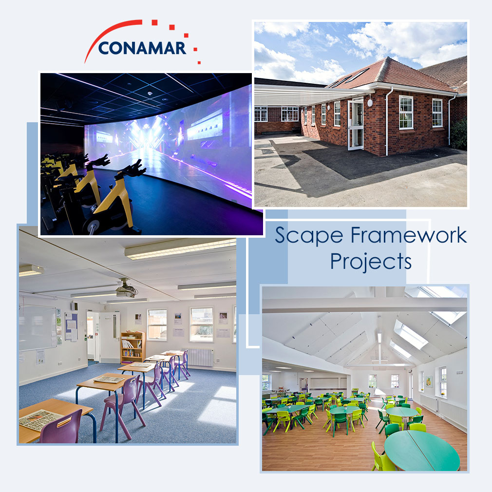 Conamar is responsible for the Scape Regional Construction framework East of England South, delivering construction projects for the public sector within Hertfordshire, Bedfordshire and Essex for the next four years. Here are some of our projects so far!  @Scape_Group  #newbuild pic.twitter.com/87IoqjHDCT