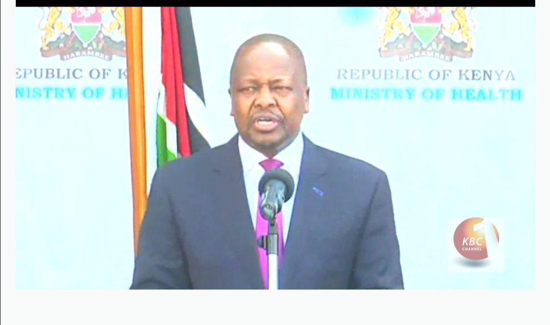 CS Kagwe: We have tested over 300 Kenyans in the last 24 hrs, out of those 22 people have tested positive. 21 out of the 22 cases are people in quarantine #CoronaVirusUpdate https://t.co/gxfLVKBUgr