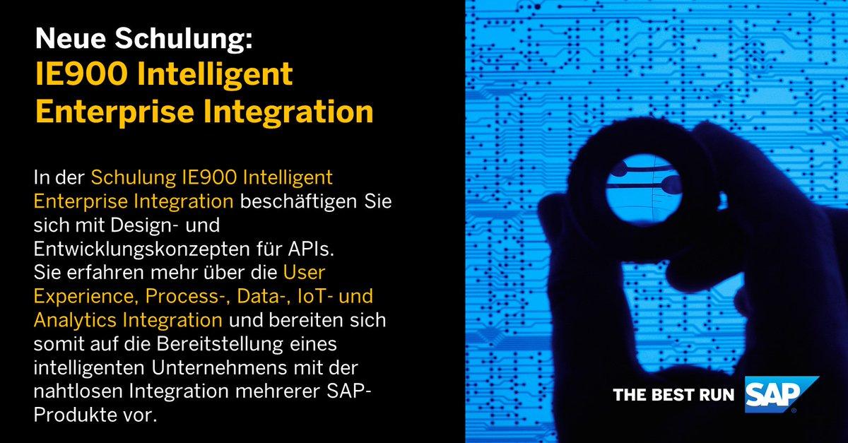 Im Kurs IE900 #IntelligentEnterprise #Integration beschäftigen Sie sich mit Design- und Entwicklungskonzepten für APIs und bereiten sich auf die Bereitstellung eines intelligenten Unternehmens mit der nahtlosen Integration mehrerer SAP-Produkte vor. https://lnkd.in/gZ-BnJ4pic.twitter.com/3pN3yfMshv
