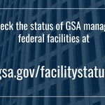 ▶️ Check the status of GSA managed federal facilities at https://t.co/rZQiOcCuPI.   #Coronavirus #COVID19