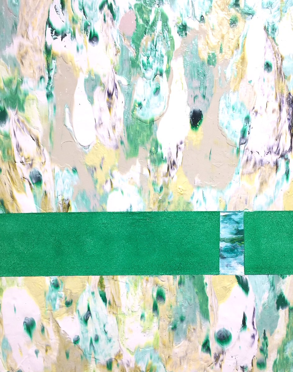 Flower(Phthalo Green) Oil,Acrylic on canvas 410×318mm (部分)  #art #acrylic #abstractpainting #artwork #Green #flower #contemporaryart #現代美術 #清水佳代子 #kayocoshimizupic.twitter.com/jy8yhKv3jV