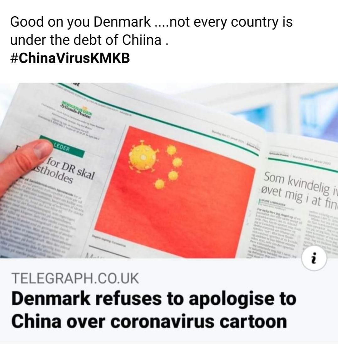 RT @abdullah_0mar: Well done Denmark 👍👏 #ChineseVirus19 https://t.co/KJP35XvFmN