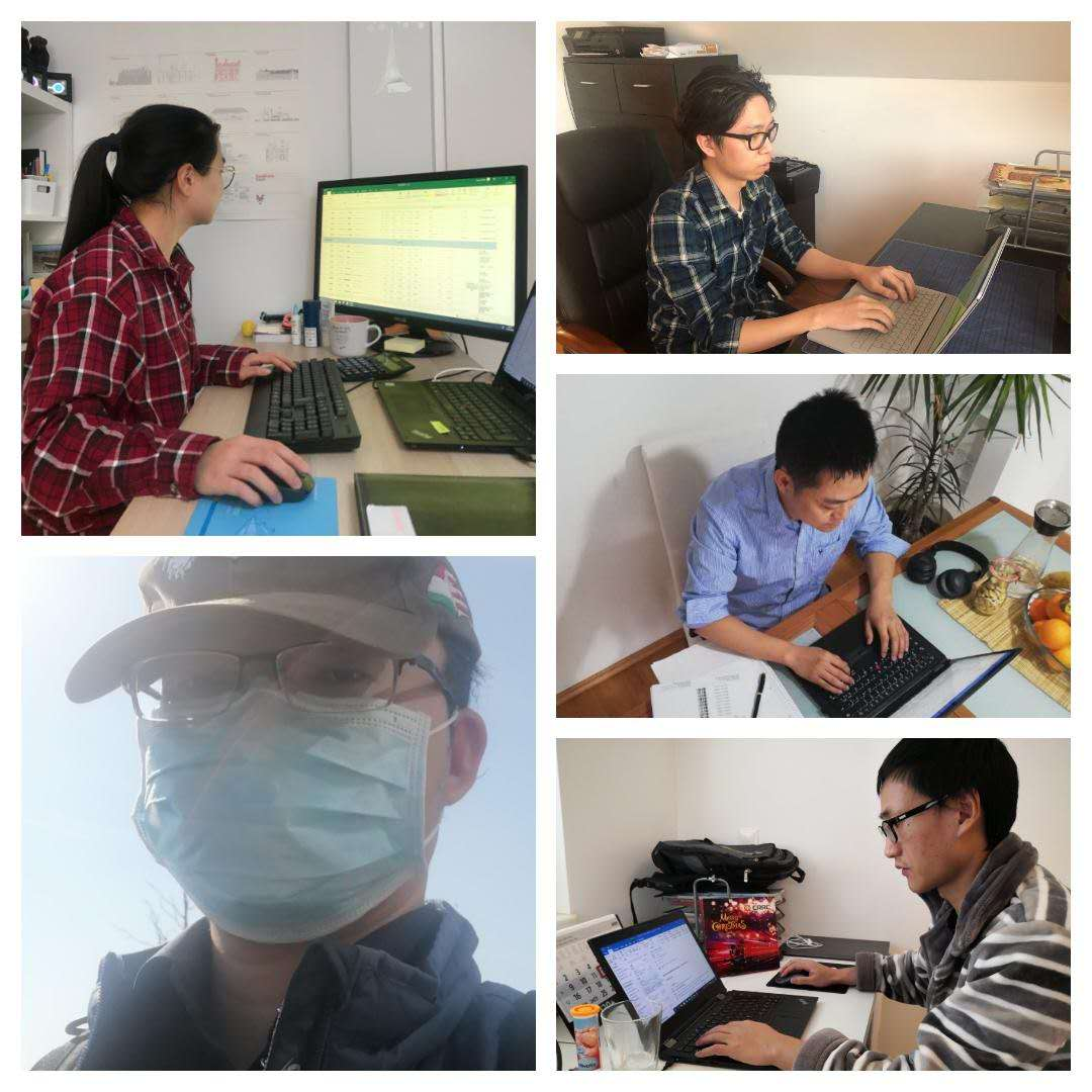 #office work now vs. then: A glimpse of our #hardworking colleagues of the Purchasing Department during #HomeOffice. Thumbs up to all employees that keep up the work during hard times!  #Rollingstock #railway  #CRRC #keepworking #COVID19  #StayHomeStaySafe