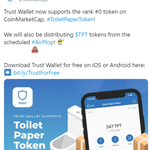 Image for the Tweet beginning: 😄 @TrustWalletApp now supports the