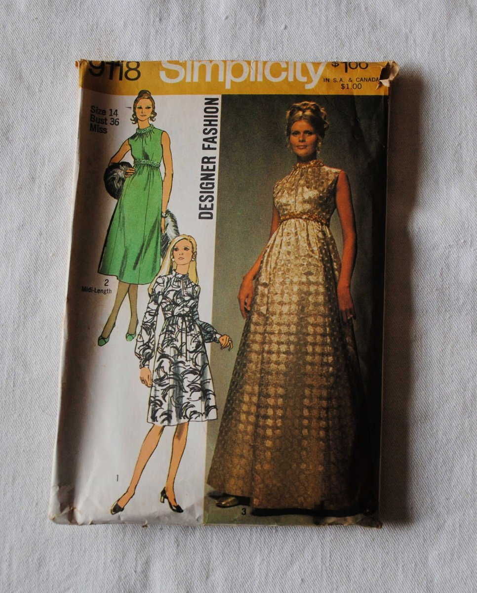"Sharing the latest addition to my #etsy shop: Size 14, Vintage 1970s, Simplicity 9118 Sewing Pattern, Misses Designer Fashion Evening Gown, Dress, Conservative Cocktail Dress, Bust 36"" https://etsy.me/2US0lat  #wedding #newyears #quilting #70sdresspattern #70sspic.twitter.com/D5eOB5udtC"