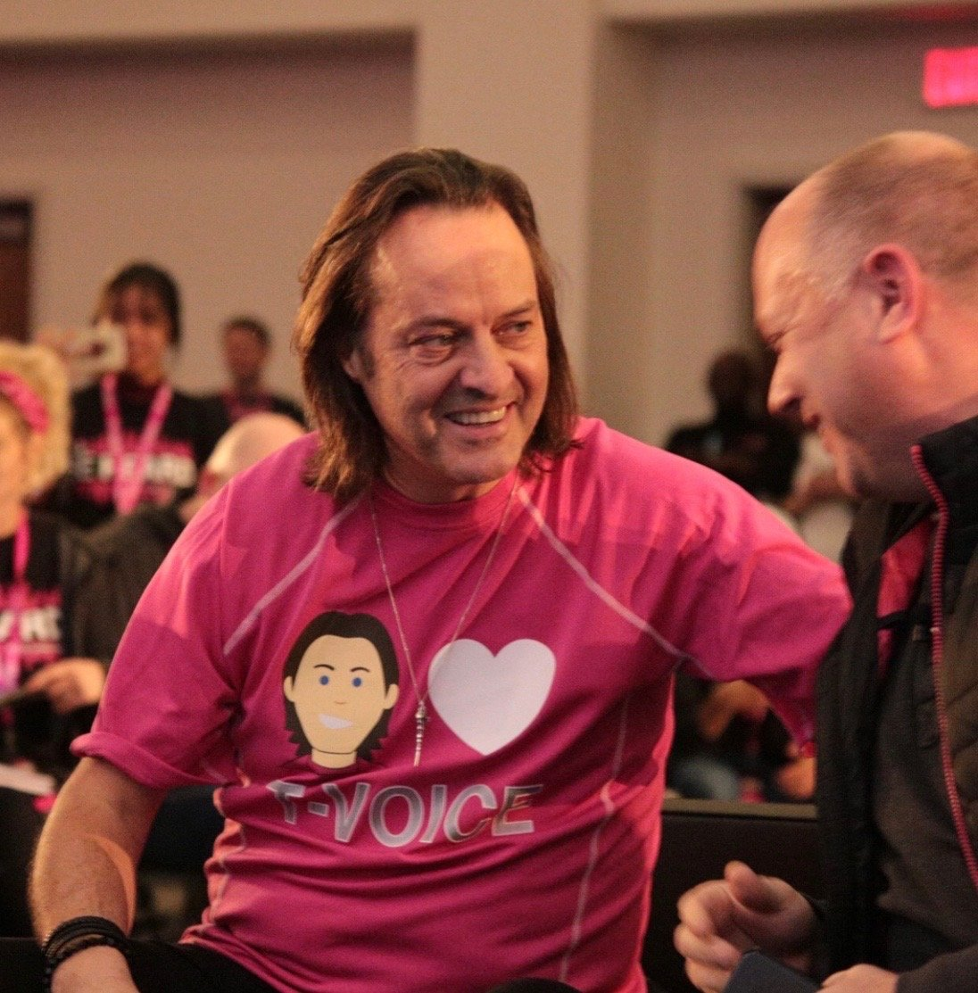 """Thank you"" will never be enough to show my gratitude and admiration for @JohnLegere (or #LegereTheLegend!) Without him, the #NewTMobile wouldn't be possible! Fortunately, with @MikeSievert as our leader, I'm as excited as ever for our future! Who's with me?"
