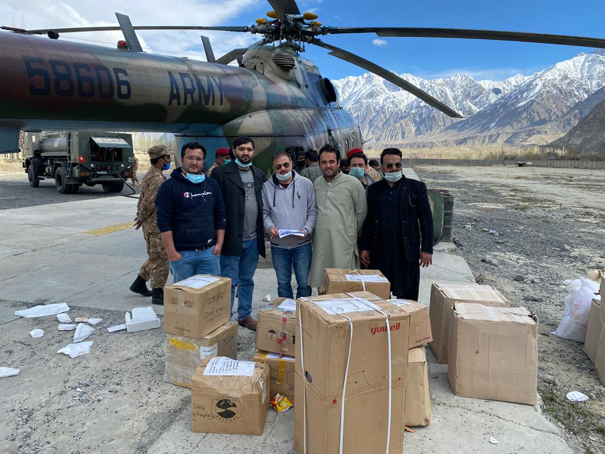 #Baltistan received three ventilators by locally raised funds amid outbreak of #Coronavris.  There was no ventilator in #Skardu yet.  Kudos to generous locals of Baltistan.