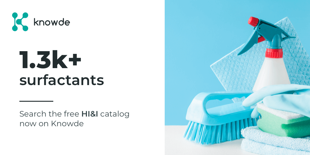 Looking for surfactants to use in your next sanitizer formulation? Sign up for free and start searching at http://www.knowde.com!  #cleaningproducts #chemistry #ChemicalIndustrypic.twitter.com/F3Wbgbmq3e