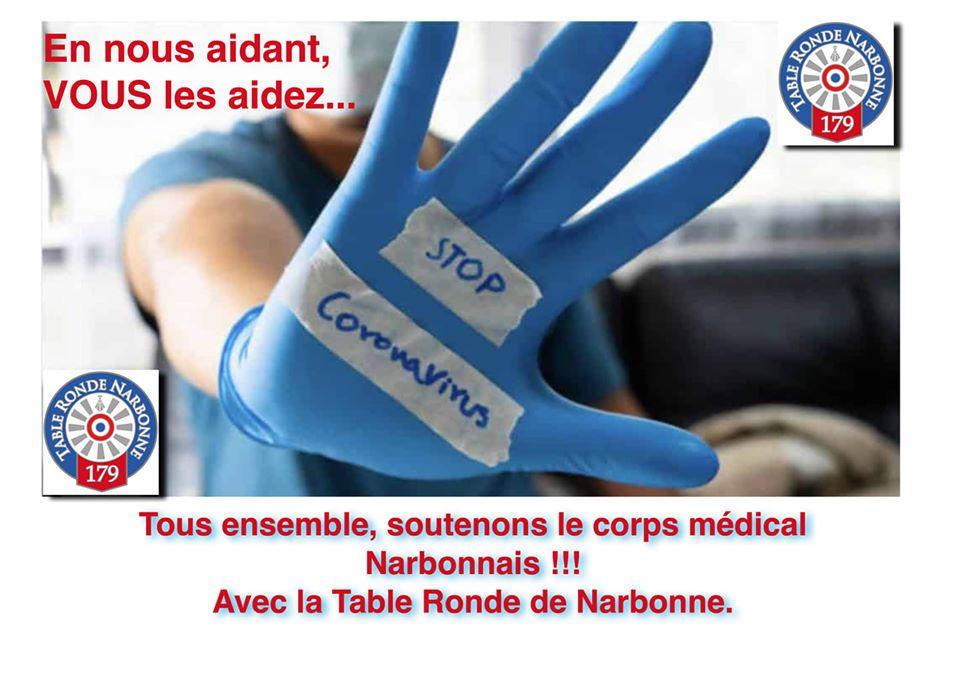 Belle initiative de #TableRondeNarbonne et sa collecte pour subvenir aux besoins...