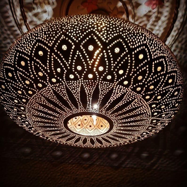 Moroccan Pendant Light Moroccan Lamp Hanging Lamp Lampshades Lighting New Home Decor Lighting  #morocco #moroccanart #scenery #decoration #decorationideas #home_decor #handmade #Handicraft #lamp #brass #mood #home_decor #home