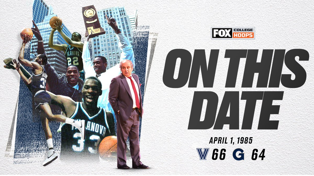 On this date in 1985, @NovaMBB shot 78% from the field to stun Georgetown in the National Championship game 🔥